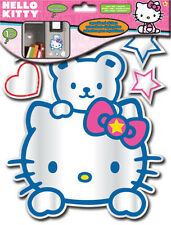 REFLECTING HELLO KITTY MIRRORED wall stickers 6 lightweight acrylic mirror decal