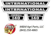IH FARMALL 140 TRACTOR HOOD DECAL SET IH INTERNATIONAL HARVESTER IHC SHEET METAL