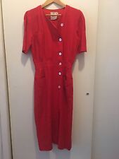 Beautiful red Valentino vintage linen dress size 42