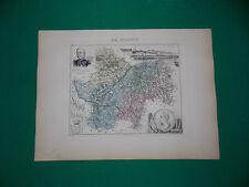 SAONE ET LOIRE CARTE ATLAS MIGEON Edition 1885, Carte + fiche descriptive