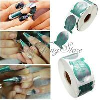 500pcs/Roll Nail Art Extension Sticker Form Acrylic UV Gel Nail Tips Decor