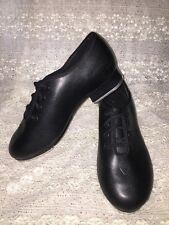 Girls BLOCH DANCE NOW TECHNO TAP #2H #3T Black Tap Laced Shoes Sz 12 1/2 M