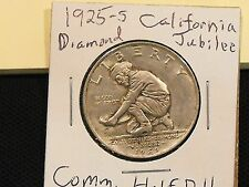 1925-S California Diamond Jubilee commemorative half dollar in XF condition.