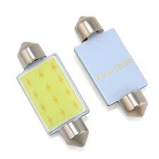 2x 41mm Festoon COB 12 Chips LED Car Dome Reading Lights Bulb Lamp DC 12V White