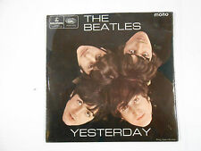 1C3 THE BEATLES YESTERDAY UK EP W/  PICTURE SLEEVE BLACK AND YELLOW PRINT MONO