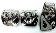 Chrome Black Car Non-Slip Manual Transmission Clutch Brake Foot Pedal Cover