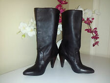 BCBGeneration Brown Soft Gloves Leather Pull On Mid-Calf High Heel Boots Sz. 7
