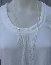 Schöne Halskette silberfarben 3reihig neu zu verkaufen