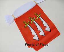 ESSEX FLAG BUNTING 9m 30 Fabric Party Flags English County England Counties