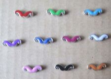 Floating 10PCS mixed Moustache charm/Fits Origami Owl or memory locket #1074