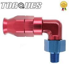 "AN -6 (-06AN JIC AN6) 90 Degree 1/8"" NPT Teflon / PTFE Fuel Hose Fitting"
