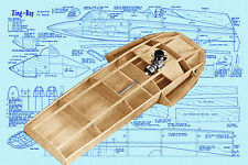 """Model Racing Boat Plans 27""""  Hydroplane Radio Control Full size printed Plans"""