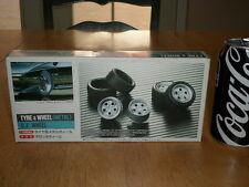 RUBBER TIRES & METAL RIM WHEELS, Model Car Parts Kit, Scale 1/24, Vintage