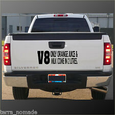 V8 sticker juice and milk come in 2 litres sticker JDM holden Land Rover vinyl