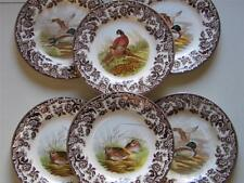 SPODE WOODLAND TEA PLATES Hare,pheasants,duck, grouse,quail,turkey
