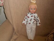 """MICKEY MOUSE FLANNEL TOP AND CREAM PANTS   FIT 18"""" FASHION DOLL   (NEW)"""