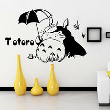 Totoro Umbrella Wall Stickers Removable Children's Room Mural Decals Decor DIY
