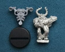 40K CHAOS SPACE MARINE WITH PLASMA GUN KHORNE METAL OOP (G62)