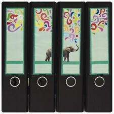 Design Ordner-Rückenschilder zum Einstecken breit - Motiv Funny Elephant -IC-030