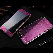 Thick Diamond Color Temper Glass Front +Back Screen Protector For Mobile Phone