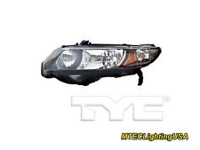 TYC NSF Left Side Halogen Headlight Lamp for Honda Civic Coupe 2010-2011