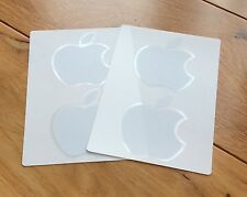 4 x Autentico ufficiale bianco logo apple stickers-iPad Air MINI MAC MACBOOK