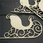 Wooden Christmas Sleigh Shapes Decoration Craft MDF Blanks
