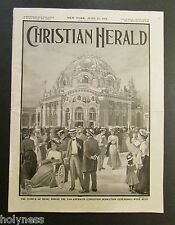 ANTIQUE NEWSPAPER / CHRISTIAN HERALD / WITH ARTICLE ABOUT PUERTO RICO / 1901