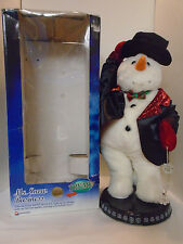 Gemmy Animated Christmas Dancing Singing Lighted Tux Mr. Snowman