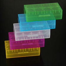 5Pcs 18650 CR123A 16340 Hard Plastic Transparent Battery Case Box Holder Storage