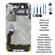 NEW Complete Mid Frame Assembly Housing Power Mute Volume Switch FOR iPhone 4S
