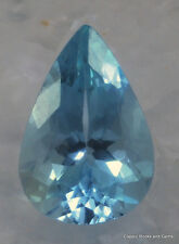 Aquamarine Faceted Gemstone Aquamarin Edelstein Aquamarina 2.52 ct