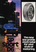 Dunlop SP Sport D6 Tyre Catalogue Brochure 1981