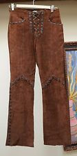 Wilsons Leather Maxima Women's Vintage 70s Style Mocha Brown Suede Pants Size 2