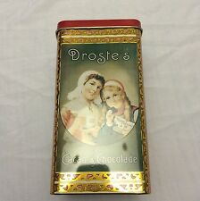 VINTAGE DROSTE`S COCOA METAL TIN  CONTAINER CAN STORAGE CLEAN EMPTY