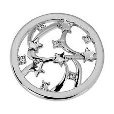 Quoins QMOK-22L-E-CC large Global Stars Münzen Damen mit weißen Steinen neu