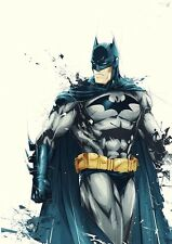 BATMAN SUPERHERO DIGITAL ART IMAGE A4 Poster Gloss Print Laminated