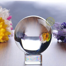 Clear Asian Rare Natural Quartz Magic Crystal Healing Ball Sphere 80mm + Stand