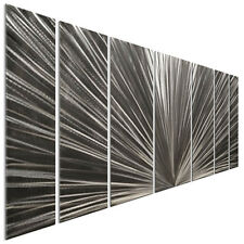 Metal Wall Art Rising Sun Silver 3D Wall Sculpture by Ash Carl 7 Piece Set