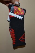 Men's Superman Crew Socks Licensed DC Comics Sock Size 10-13 Shoe Size 6-12