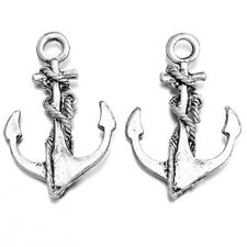 150pcs Vintage Silver Tone Alloy Boat Anchor Pendants Charms Jewelry Findings C