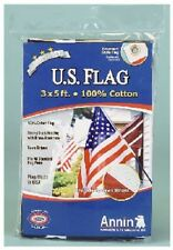 3' X 5' US FLAG - Made in USA - Sewn Stripes 100% Cotton - New in Pkg.