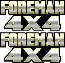 Foreman 4x4 Yellow Gastank Graphic TRX 450 400 500 Decal Sticker Atv Quad Fender