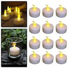 FLAMELESS CANDLES FLICKERING LED TEA LIGHT CANDLES BATTERY TEALIGHTS