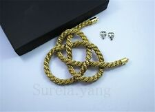 1Pcs Car Rearview Mirror Charms Good Luck Golden Kin Tsuna Rope Hang  Vip Gift