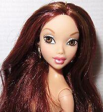 (C) NUDE BARBIE (C~ MY SCENE LARGE HEAD CHELSEA AUBURN BROWN EYES DOLL FOR OOAK