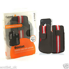 Cygnett Boston Leather Case Pouch Sleeve for iPhone 4/4S - Brown RRP £25 NEW