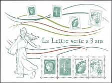 France 2014 Green Letter/Ceres/Sower/Liberty/Marianne/Stamp-on-Stamp m/s n39183h