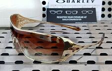 New Oakley 05-663 DART Women's Sunglasses Polished Gold w/ Brown Gradient