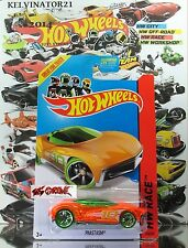 Hot Wheels 2014 #178 Phastasm™ CLEAR ORANGE,1stCOLOR,CLEAR GREEN TIRE,PR5,US
